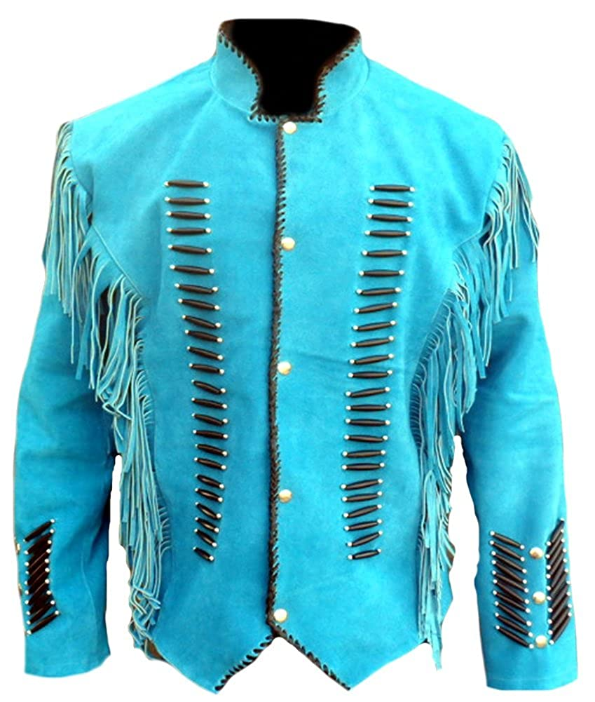 Classyak Hombre Nativo de la India Occidental Suede Chaqueta ...