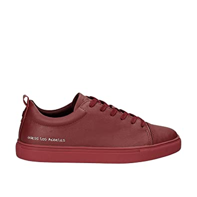 Guess Sneakers Sportive Lacci Uomo Pelle Red Rosso FMCAR3