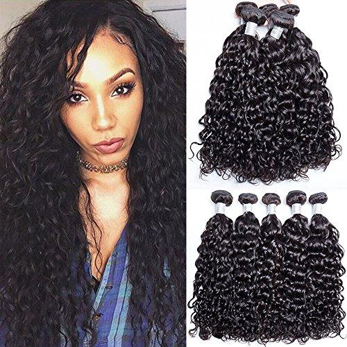 Maxine 10A Malaysian Human Hair 3 Bundles Water Wave Wet and Wavy Water Weave Human Hair Bundles Indian Water Wave Virgin Hair(10+12+14inch)