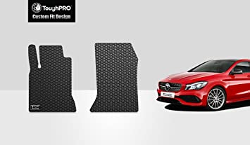 Tailored Fit Black Carpet Floor Mats 4pc Colour Trim Edge Set for Mercedes CLA