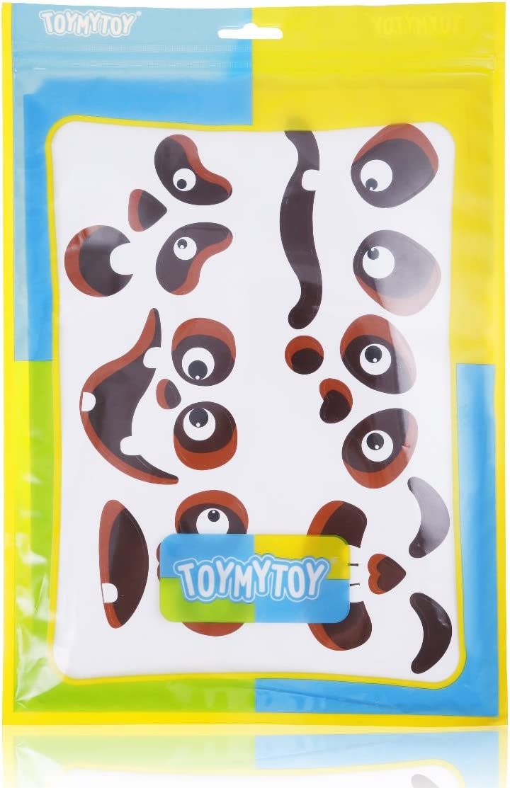 TOYMYTOY 60pcs Pumpkin Face Stickers Halloween Jack-O-Lantern Decorations Removable Paper Self-Adhesive Faces Expressions Stickers