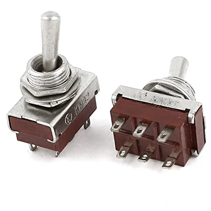 Lights & Lighting 2pcs Ac 250v 5a 6 Terminals On-on 2 Position Dpdt Toggle Switch