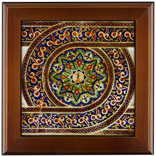 3dRose ft_164779_1 Photo of Mosaic Wall Decor, Marrakesh, Morocco, Photo by Rhonda Albom-Framed Tile Artwork, 8 by 8-Inch