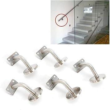Soporte de pared para rampa escalera acero inoxidable pasamanos soporte pasamanos escalera: Amazon.es: Bricolaje y herramientas