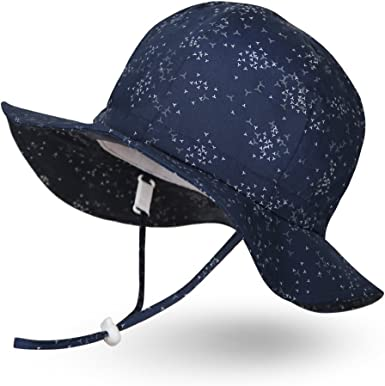 Ami/&Li tots Unisex Child Adjustable Bucket Sun Protection Hat for Baby Girl Boy Infant Kids Toddler UPF 50