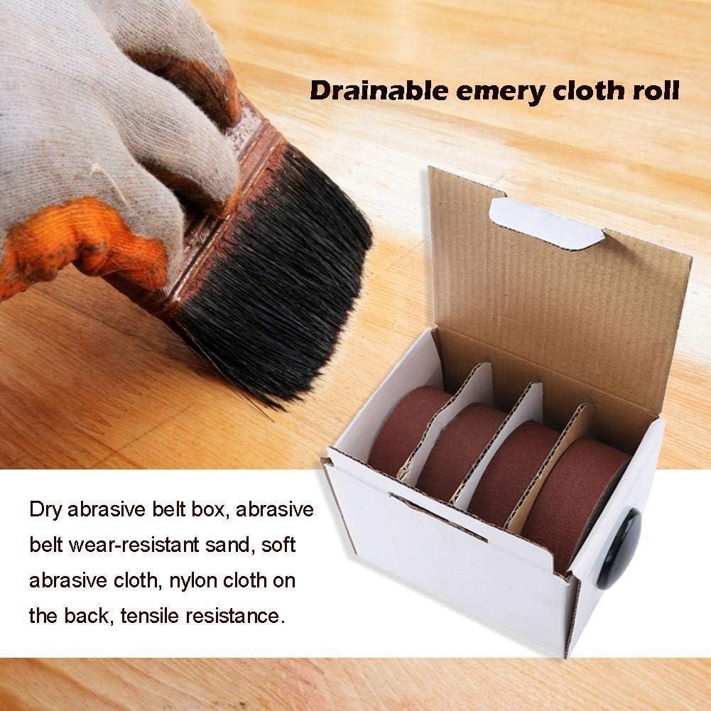 Automotive Abrasive Accessories CHUNSHENN 4 Rolls Sanding Belt Drawable Emery Cloth Sandpaper Dry Abrasive Belt Box Wood Grinding Roll Belts for Wood Turners