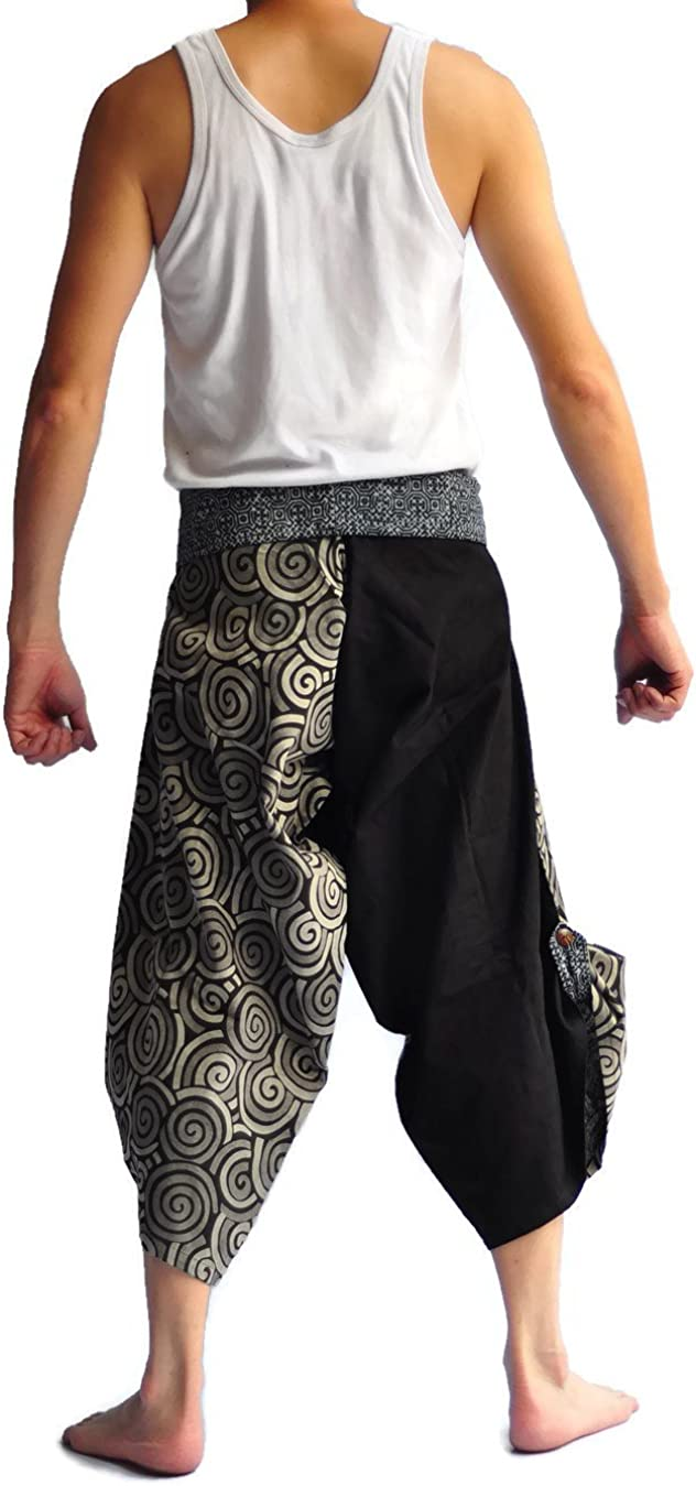 Siam Trendy Mens Japanese Style Pants One Size Black