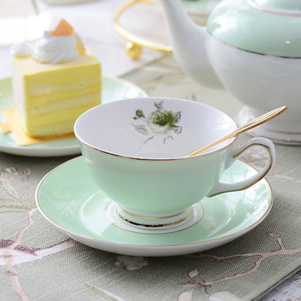 CSQ Coffee Cup Tea Set, Simple Ceramics Tea Set Meeting Room Hospitality Room Tea Set Capacity: 900ml Afternoon Tea (Color : A) by Tea set-CSQ (Image #5)