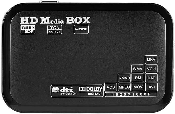 Richer-R ASHATA Mini Smart TV Box,Reproductor Multimedia, Android TV Box Media Player,Apoyo 16 Idiomas, Compatible con Video/Imagen/Audio,Negro(Plug EU.): Amazon.es: Electrónica
