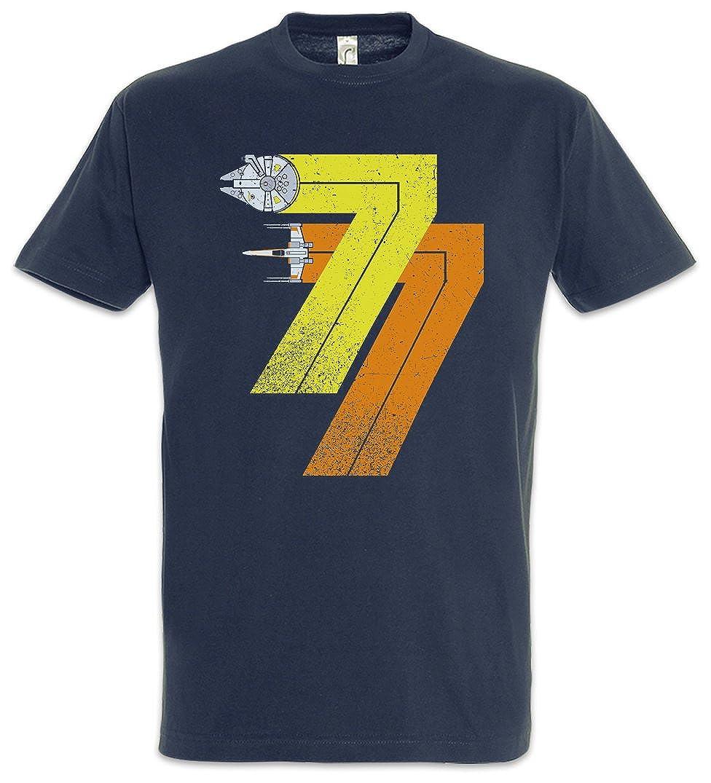 Vintage Rebel Born 77 T-Shirt - Star Millenium Dart Year 1977 Alliance Falcon Vader Wars Fun T Shirt Taglie S - 5XL
