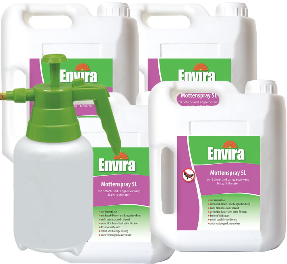 ENVIRA Anti Motten 4x5Ltr + 2Ltr Sprüher