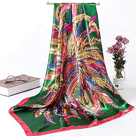 90/Cuadrados/-/Azul Zafiro/ 90 YUANMEI Pa/ñuelos peque/ños pa/ñuelos de Seda Salvaje para Mujer Bufanda Cuadrada Grande Primavera y secci/ón Delgada Cuatro/ 90 cm