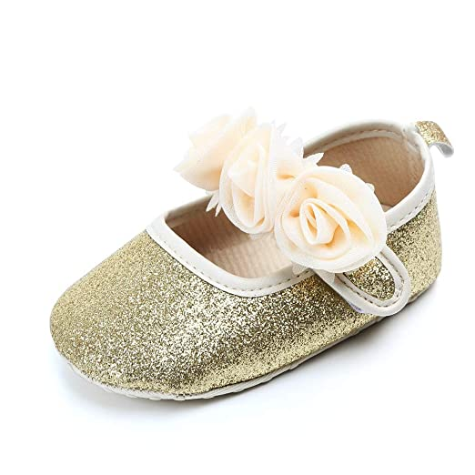 143d21d31c2f Amazon.com: KONFA Little Kids First Walkers Sequins First Walkers Ankle  Boots,Toddler Newborn Baby Girls Mary Jane Crib Shoes: Clothing