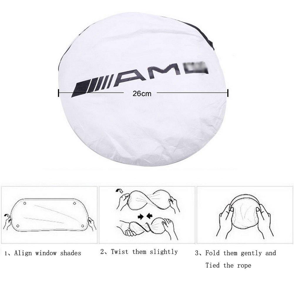 YIKA Parasol para parabrisas de coche para AMG GLK300 GLA C200L GLC CLA bloquea los rayos UV parasol protector para mantener tu veh/ículo fresco y libre de da/ños