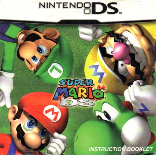 Super Mario 64 DS Instruction Booklet (Nintendo DS Manual ONLY - NO GAME (Nintendo 64 Game Manuals)