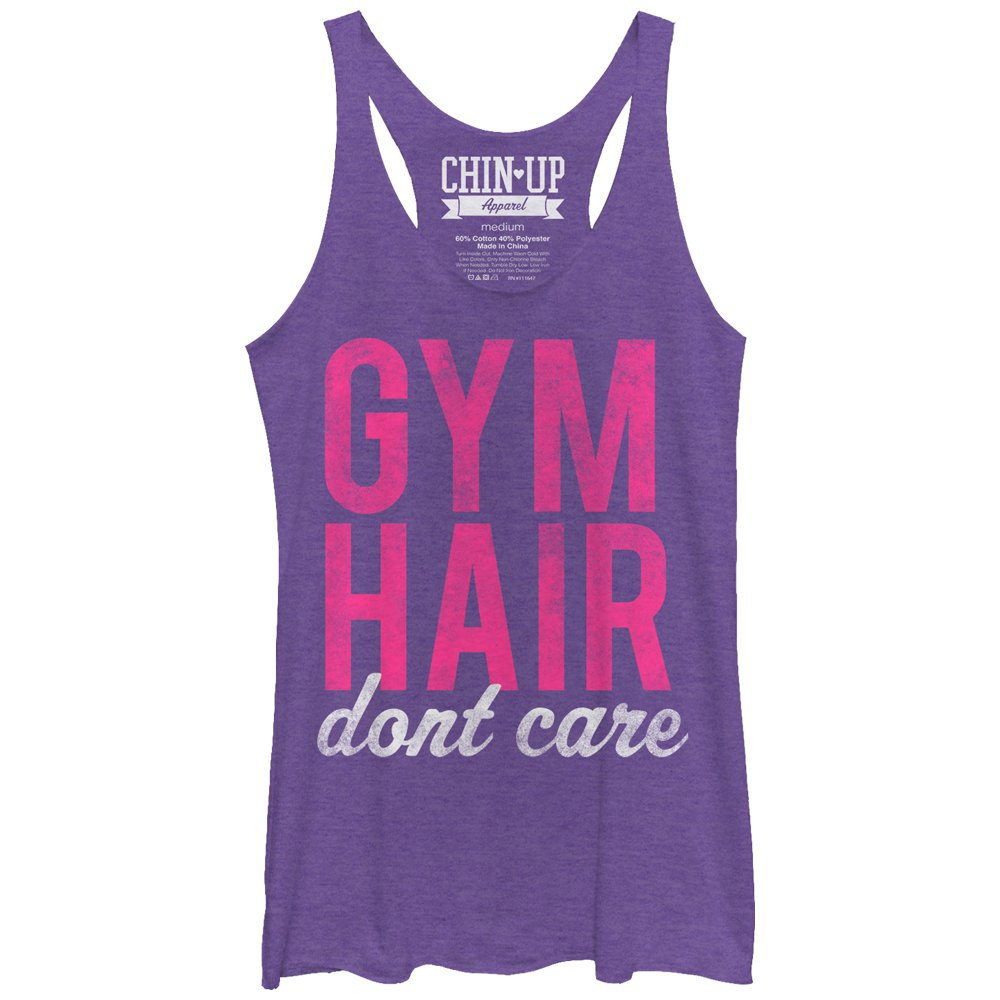 Chin Up Women's Hair Don't Care Racerback Tank Top