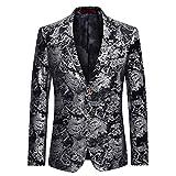 Cloudstyle Men's Dress Floral Suit Notched Lapel Slim Fit Stylish Blazer,...