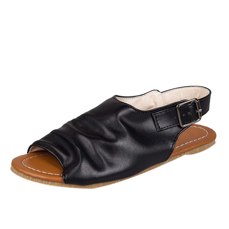 Women Sandals Flat Casual Ladies Summer Sandals Flats Comfortable Platform Sandals,