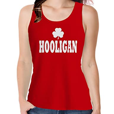 Snoogg Hooligan IrishSlogan Red Colour Cotton Womens Girls Casual Vests  Tank Tops Beach Wear  Amazon.in  Clothing   Accessories a3869f614