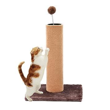 Señuelo de pesca casa gato rascador de gato centro de actividades primavera juguetes (marrón): Amazon.es: Productos para mascotas