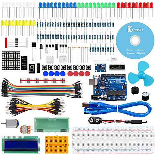 Keywish Project ADXL335 Starter Kit with Tutorial, ADXL335 Module, UNO R3 Controller Board, H-Bridge L293D, DC Motor, Dot Matrix Display for Arduino UNO R3