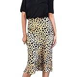 Faldas Ceñidas para Mujer Primavera Otoño Hot Leopard Print Midi ...
