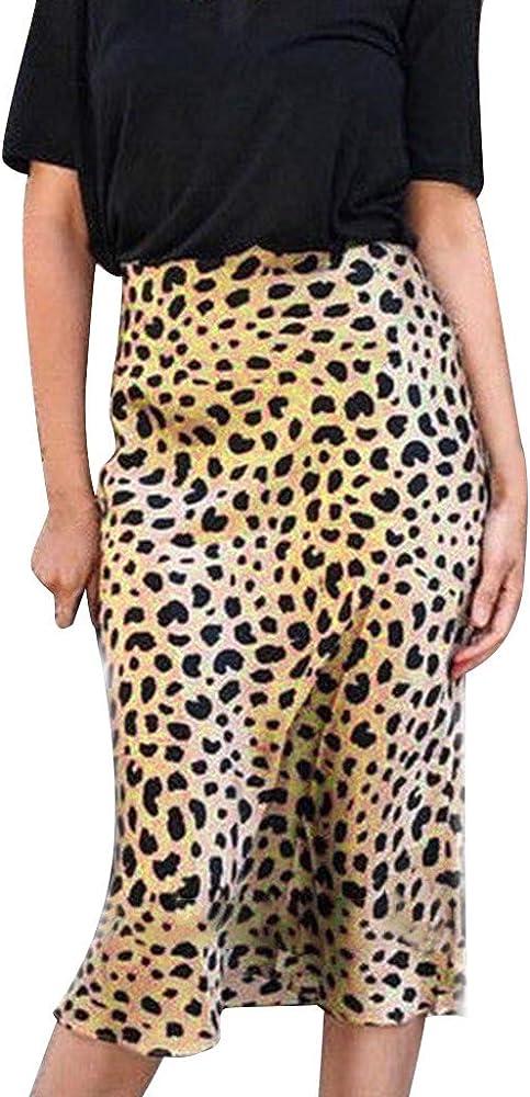 TOPKEAL Falda Casual de Cadera con Cintura Alta para Mujer Falda ...