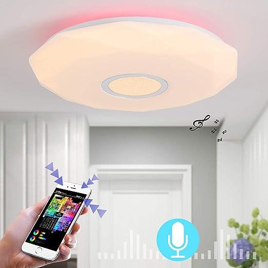 LCTCXD Luz de Techo de la música LED con Control Remoto ...