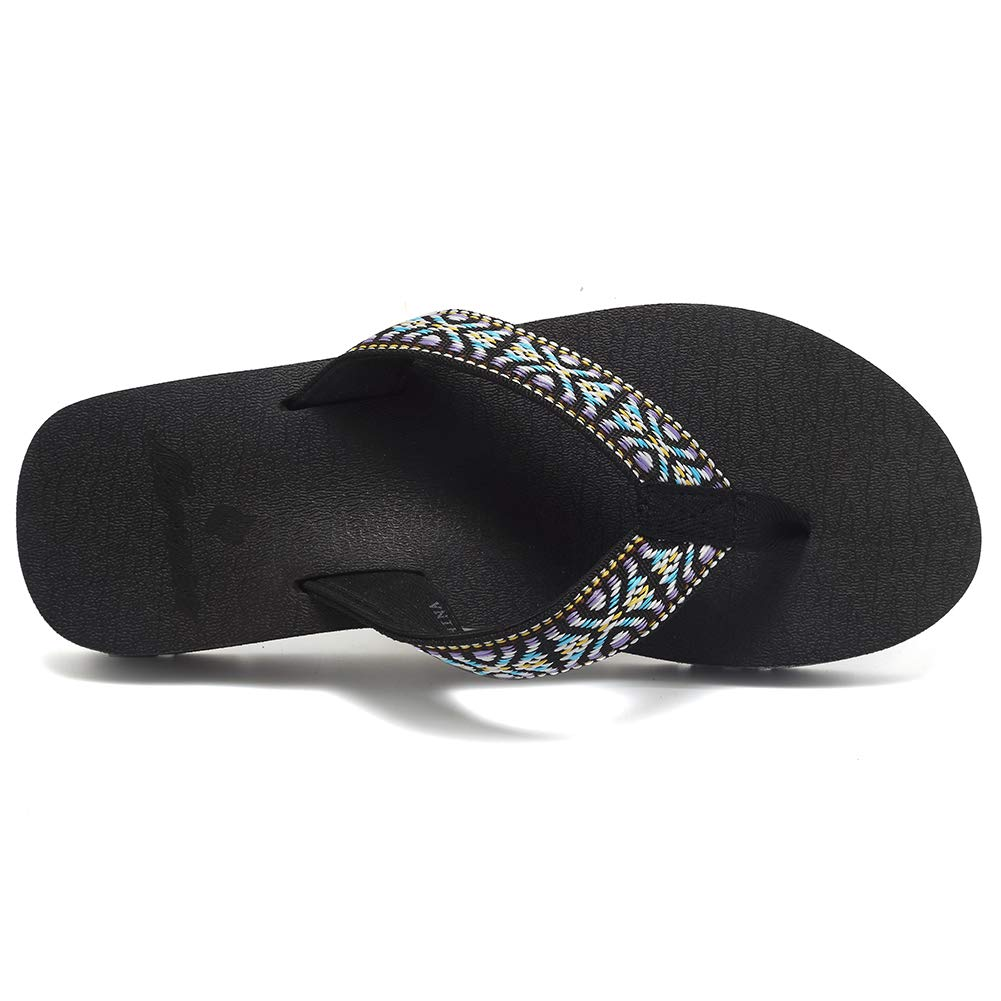 Womens Flip Flops Arch Support Yoga Mat Insole Sandal Casual Slipper Outdoor and Indoor
