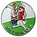 Navika Golf Diva Glitzy Ball Marker with Hat Clip