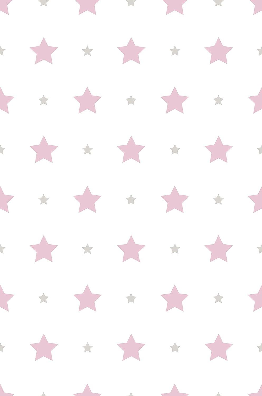 Dandino Papel Pintado Infantil de Estrellas, Rosa ICH SL 584-2