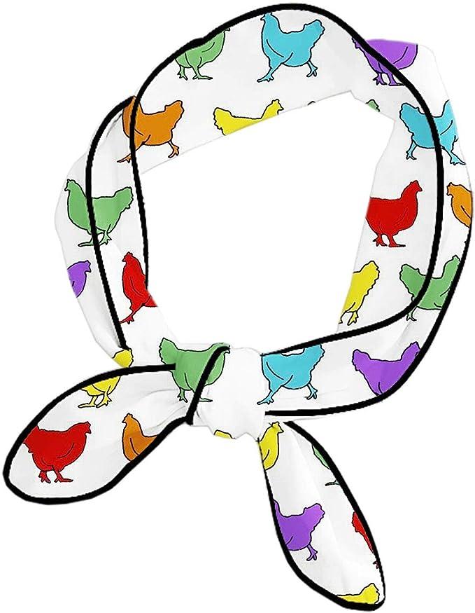 CXLETTI Bufanda para la cabeza, gallinas, pollo, arcoíris ...