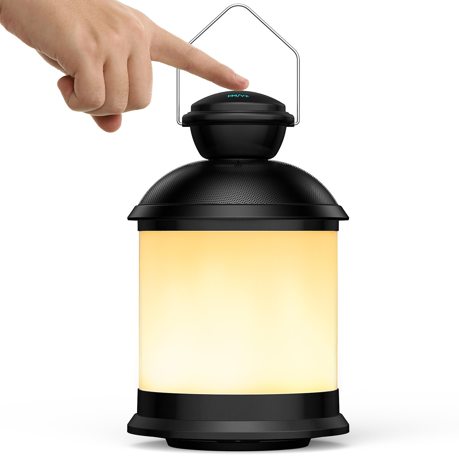 Outdoor Bluetooth Speaker – Pohopa Touch Bedside Lamp and Color Changing,Waterproof Outdoor Table Lamp with Paper DIY Change,Perfect Gift