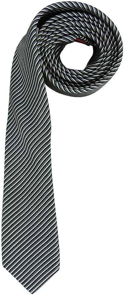 OLYMP Hombre seda corbata gris (13) 000: Amazon.es: Ropa y accesorios