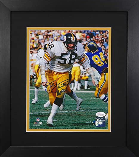 972cbd234 Jack Lambert Autographed Steelers Photo - Beautifully Matted and Framed -  Hand Signed By Jack Lambert