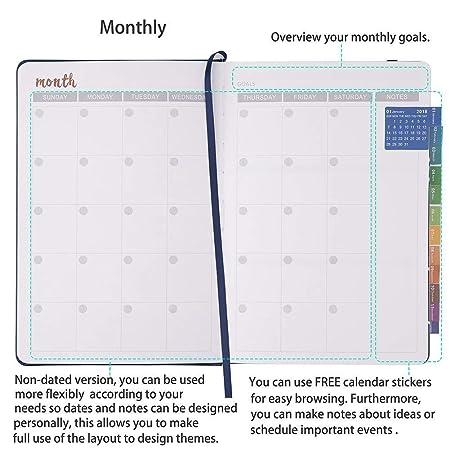 Amazon.com: ¡Limpiar! Agenda semanal y mensual 2019-12 meses ...