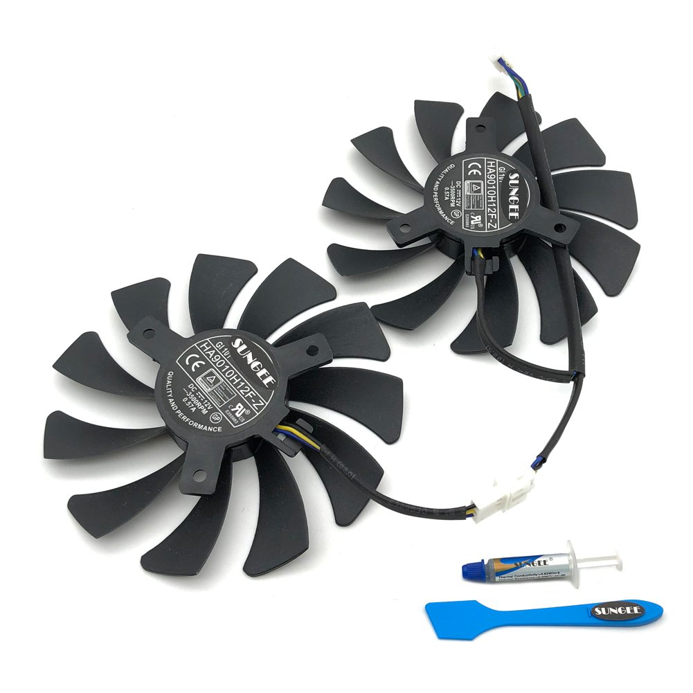 HA9010H12F-Z Graphics Card Cooling Fan For MSI GeForce GTX 1050Ti 2G 4G 1060 3G 6G OC Video Card Fans by Z.N.Z