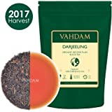 Organic Darjeeling Black Tea Leaves from Himalayas (150+ Cups), 100% Certified Pure Unblended Darjeeling, FTGFOP1 Grade Loose Leaf Tea, Packed & Shipped Direct from Source in India, 9-Ounce Bag