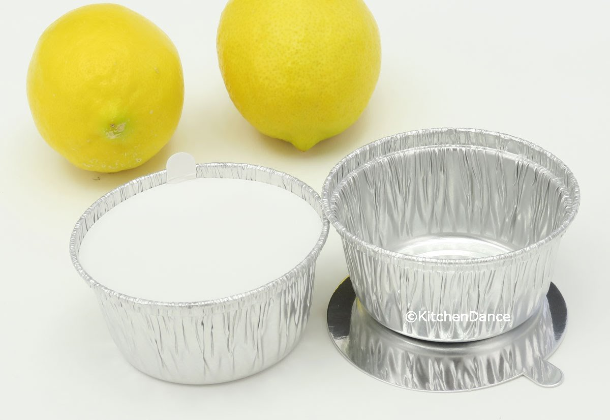 Disposable Aluminum 4 Oz Ramekins/Foil Cups w/Board Lid #1400L (250) by Handi-Foil (Image #2)
