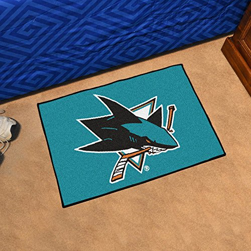 Fanmats Indoor Outdoor NHL San Jose Sharks Team Logo Carpet Area Rug Floor Starter (Mat San Jose)