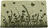 Entryways Garden Silhouettes Hand Woven Coir Doormat, 18 by 30-Inch