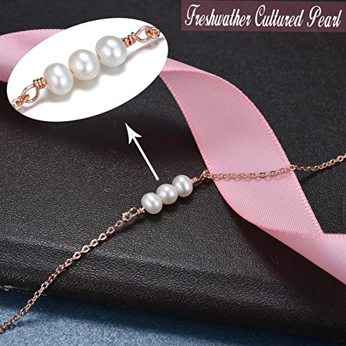Choker Chain Necklace with Pearl -925 Sterling Silver Freshwater Pearl Choker Necklace Gifts for Women