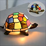 Loxton lighting 13 cm tiffany turtle table lamp multi colour desk lamp niuyao table light industrial loft style night light tiffany lamp tortoise shape for mozeypictures Gallery