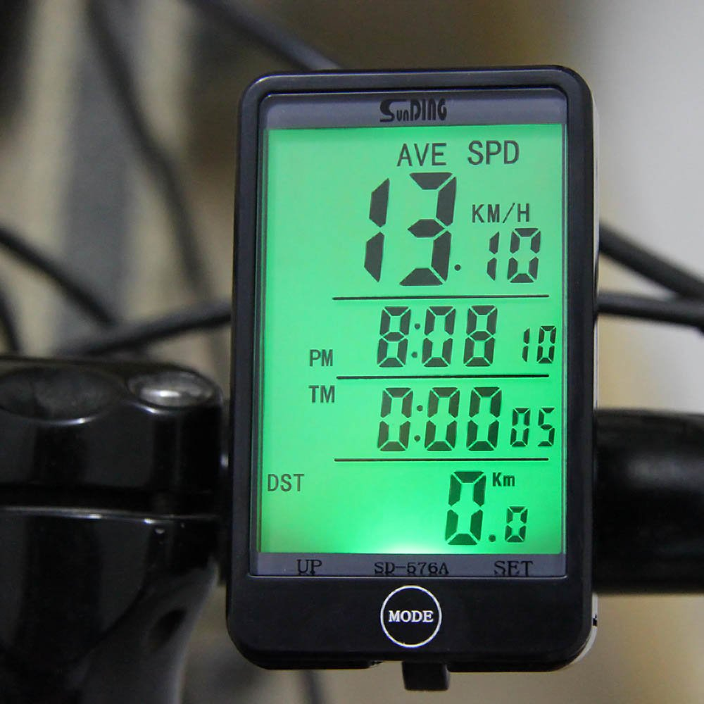 27 Functions Touch Button Bike Computer LCD Backlight Bicycle Computer Speedometer Odometer Wired Cycle Velocimetro Bicicleta