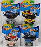 Set of 4 Hot Wheels Color Shifters - Fire-Eater - HWTF Buggy - Mega-Duty - Monster Dairy Delivery