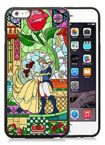 Popular iPhone 6 Plus 5.5 Inch Case ,Unique And Lovely Designed With Beauty And The Beast Black iPhone 6 Plus 5.5 Inch High Quality Cover