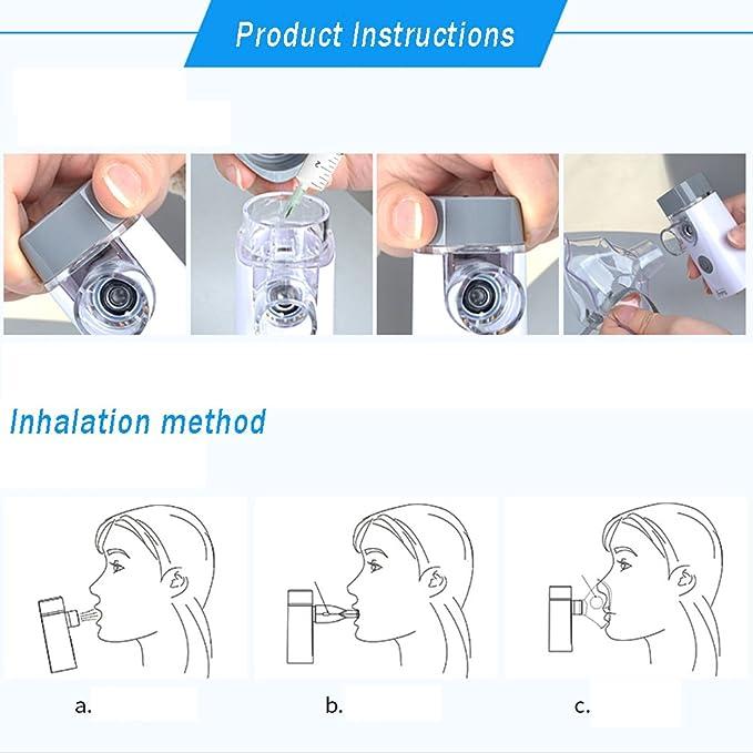 WAOBE - Nebulizador Compresor para el Cuidado de la Salud - Alivio de la Alivio de la Tos de Mano Pequeño y Conveniente Los Nebulizadores Medicinales de la ...