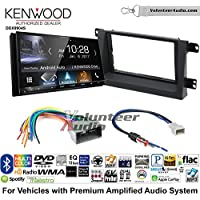 Volunteer Audio Kenwood DDX9904S Double Din Radio Install Kit with Apple CarPlay Android Auto Bluetooth Fits 2006-2008 Honda Ridgeline (Factory Amplified)