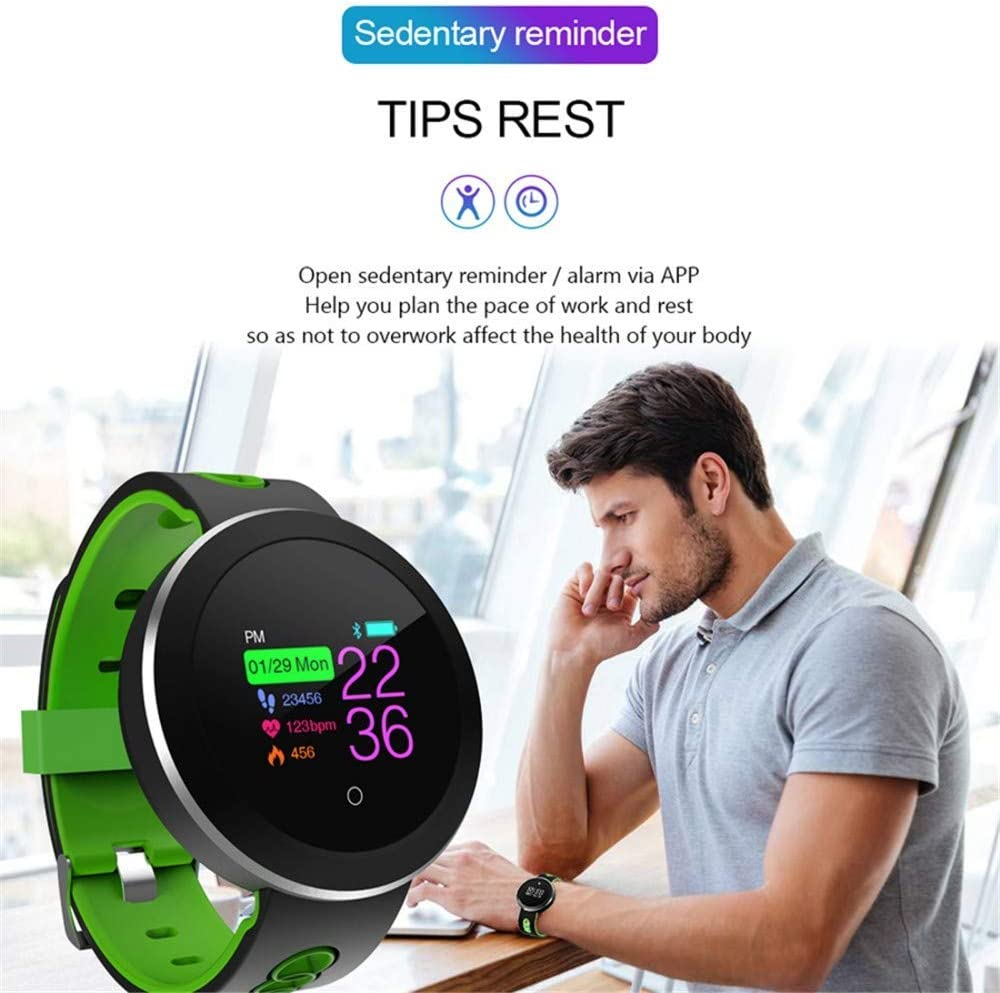Sports Tracker Green Fashion Design Bluetooth Smart Watch Lcd For Ios Android Pedometer Heart Rate Tracker Wrist Smart Watch