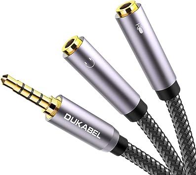 DuKabel Top Series - Adaptador de Auriculares y micrófono para PC ...